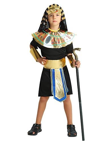 povoljno Maske i kostimi-faraon Kostim Dječaci Boy Halloween Halloween Karneval Dječji dan Festival / Praznik Polyster odjeća Crn Jednobojni Halloween
