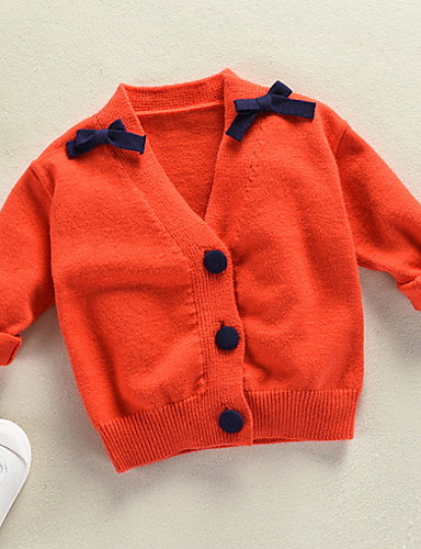 Toddler Boys Basic Solid Colored Long Sleeve Polyester Sweater