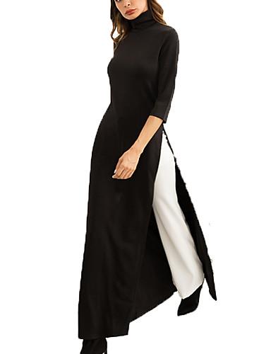 67f61347e551 Γυναικεία Πάρτι Αργίες Βασικό Κομψό στυλ street Λεπτό Swing Φόρεμα -  Μονόχρωμο