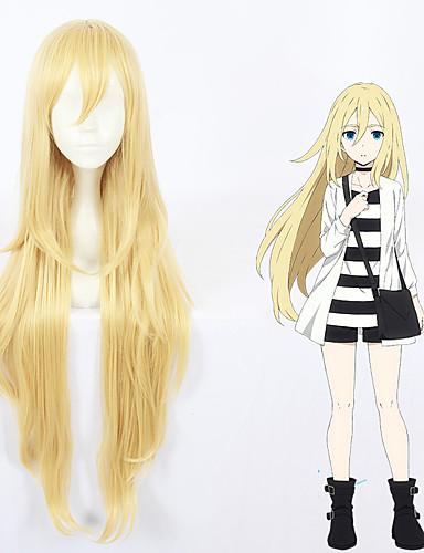 levne Cosplay paruky-Andělé smrti Rachel Gardnerová Paprsek Cosplay Paruky Vše 40 inch Horkuvzdorné vlákno Blonďatá Anime