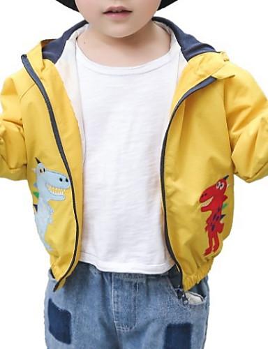 preiswerte Mode für Jungen-Kinder Jungen Grundlegend Druck Langarm Baumwolle Anzug & Blazer Orange