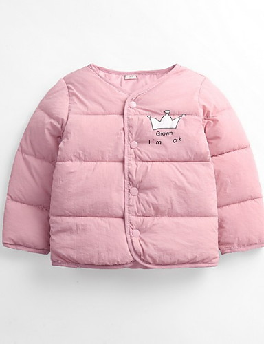 ce7445cf7f60 Kids   Toddler Girls  Basic Solid Colored Long Sleeve Cotton Down ...