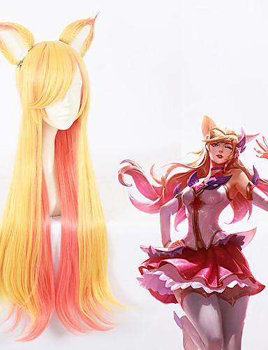 levne Cosplay paruky-Cosplay cosplay Cosplay Paruky Vše 30 inch Horkuvzdorné vlákno Zlatá Anime