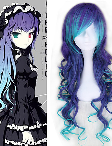 povoljno Maske i kostimi-Vocaloid Megurine Luka Cosplay Wigs Sve 30 inch Otporna na toplinu vlakna Plava Anime