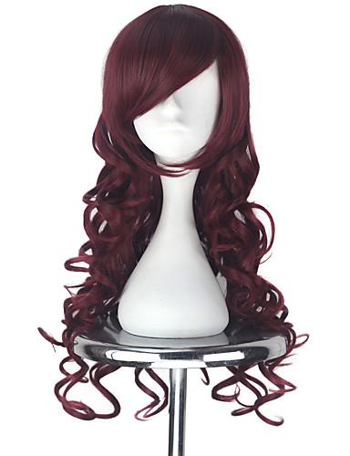 povoljno Maske i kostimi-Vocaloid Megurine Luka Cosplay Wigs Sve 30 inch Otporna na toplinu vlakna Crvena Anime