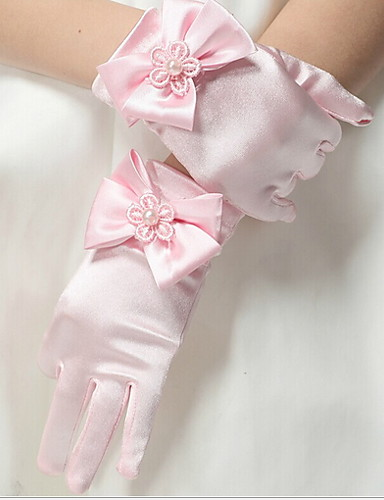 cheap Top Sellers-Toddler Girls' Solid Colored Gloves Red / Pink / Beige M / L