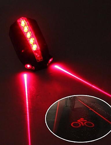 billige Sykling-Laser Sykkellykter Baklys til sykkel sikkerhet lys Fjellsykling Sykkel Sykling Vanntett Justerbar Kul Fort Frigjøring 50 lm 2 AAA Batterier Rød Sykling / IPX 6