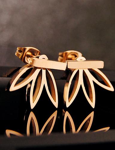 preiswerte Shixin®-Damen Ohrstecker Gestlyte Ohrringe Vorne Hinten Blume damas Grundlegend Europäisch Ohrringe Schmuck Silber / Golden Für Party Geburtstag Alltag Normal
