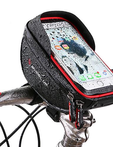 billige Sykling-Wheel up Mobilveske Vesker til sykkelstyre 6 tommers Berøringsskjerm Reflekterende Sykling til Sykling iPhone X iPhone XR Rød Svart Fjellsykkel Vei Sykkel / iPhone XS / iPhone XS Max