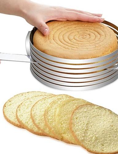 preiswerte Küche-Backwerkzeuge Edelstahl + A Stufe ABS / Edelstahl Multifunktion / Heimwerken Brot / Kuchen / Für Kuchen Kreisförmig Kuchenformen / Kuchen Cutter 1pc
