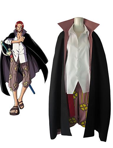 povoljno Maske i kostimi-Inspirirana One Piece Shanks Anime Cosplay nošnje Japanski Cosplay Suits Color block Dugih rukava Bluza / Hlače / Plašt Za Muškarci
