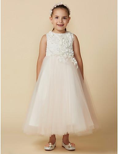 550ef6c761 Princess Ankle Length Flower Girl Dress - Lace / Tulle Sleeveless ...