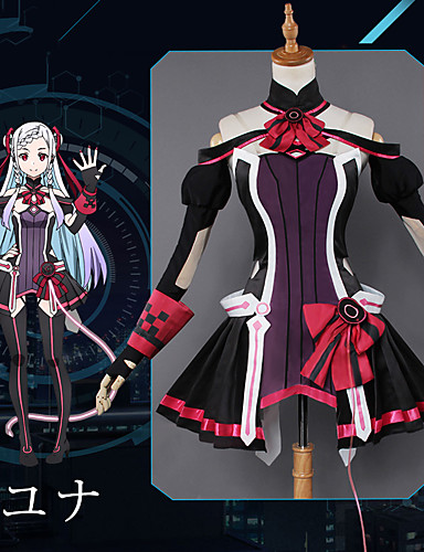 cheap Anime Costumes-Inspired by SAO Swords Art Online Yuna Anime Cosplay Costumes Japanese Cosplay Suits Anime Dress Gloves Socks For Women's / Hair Band / Bracelets / Sash / Ribbon / Hair Band / Bracelets