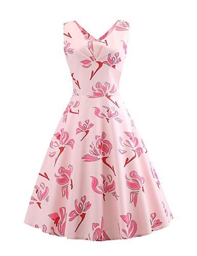 5240d2963252 Women s Daily   Weekend Vintage Slim Swing Dress - Floral Daisy ...