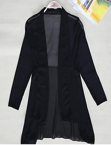 billige Dametopper-V-hals Bluse Dame - Blomstret / Geometrisk Hvit