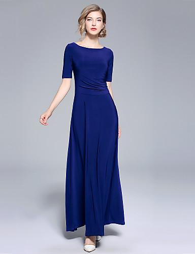 925bd279c70b Γυναικεία Αργίες   Εξόδου Κομψό στυλ street Swing Φόρεμα - Μονόχρωμο ...