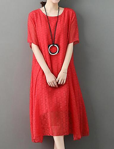 0f60602a3804 Women s Going out T Shirt   Swing Dress White Red Pink L XL XXL 6872512  2019 –  28.34