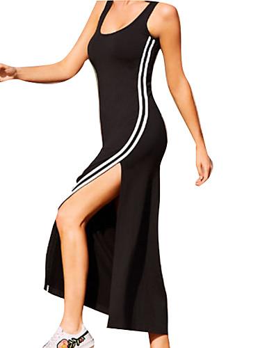 b234ac1a6e39 Γυναικεία Κομψό Βαμβάκι Λεπτό Θήκη Φόρεμα - Ριγέ