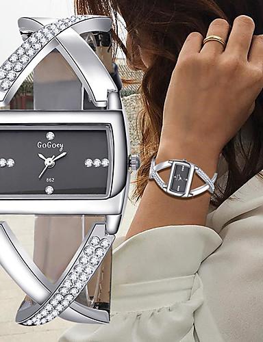 preiswerte Modische schicke Uhren für Damen-Damen Uhr Armband-Uhr Armbanduhr Diamond Watch Quartz Legierung Leder Schwarz / Weiß Chronograph Kreativ Neues Design Analog damas Armreif Elegant Weiß Schwarz / Ein Jahr / Ein Jahr / SSUO 377