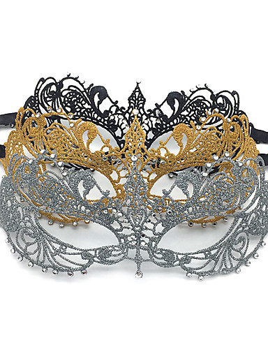 cheap Women's Mouth Mask-Inspired by Black Gold Stylish Adults' Women's / Lace