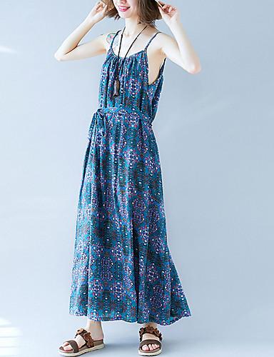 women\'s street chic shift dress maxi strap 6872474 2018 – $20.99