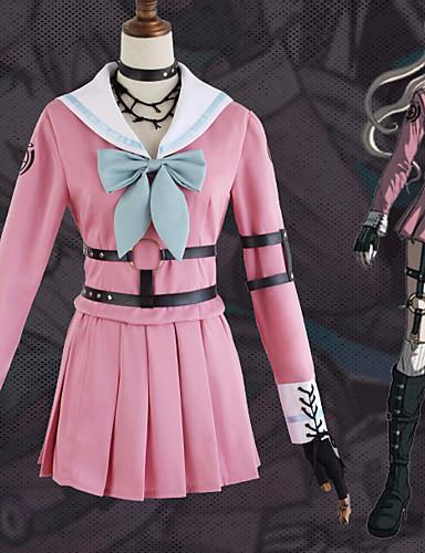 povoljno Anime cosplay-Inspirirana Danganronpa Iruma Miu Anime Cosplay nošnje Japanski Cosplay Suits Mašna Top / Suknja / Rukavice Za Žene / Neckwear