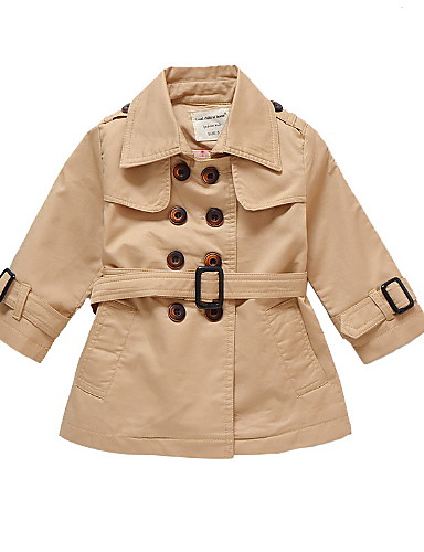 b3bb80b035fb Kids   Toddler Boys  Basic Solid Colored Long Sleeve Cotton Trench ...