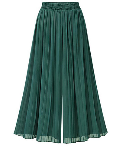 19ff98e65706a Women s Plus Size Wide Leg Pants - Solid Colored   Going out 6856415 2018 –   14.95