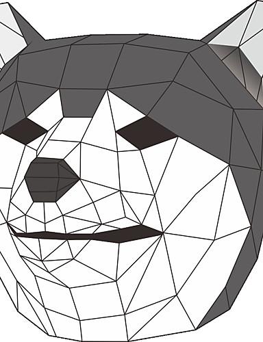 voordelige Sieraden-Dieren Masker / Vakantiesieraden Volwassenen Cosplay / Halloween Unisex Grijs / Geel Kaart Papier Cosplayaccessoires Carnaval / Nieuwjaar / Valentijnsdag kostuums
