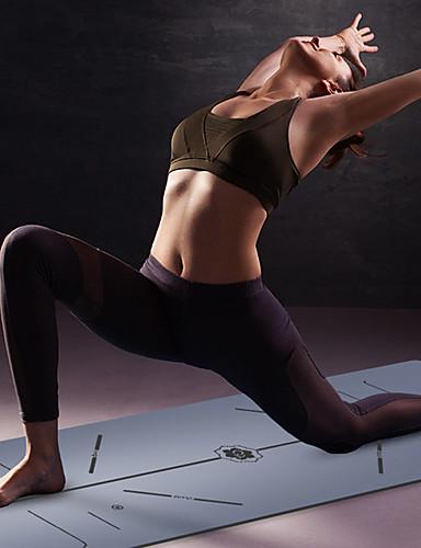 povoljno Vježbanje, fitness i joga-Yoga Mat 183*68*0.5 cm Odor Free Eco-friendly Non Slip Visoka gustoća Prirodne gume Slimming Gubitak težine Fat Burner Pozicija linije Za Yoga Pilates Sposobnost Crn Tamno siva Red Peach