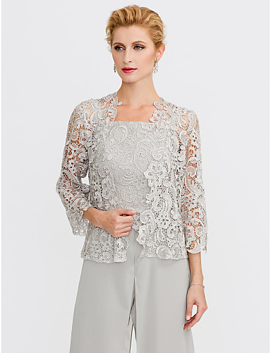 cheap Women's Wraps-3/4 Length Sleeve Lace Wedding / Party / Evening Women's Wrap With Lace Shrugs