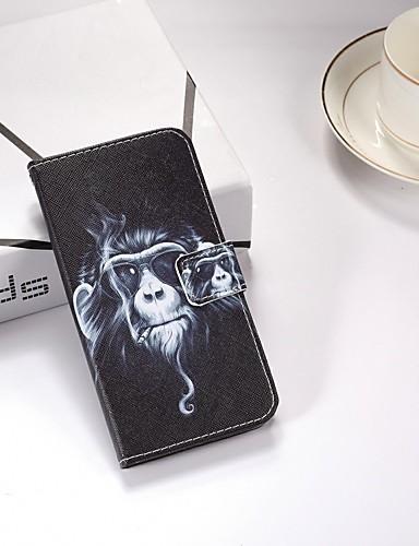 Case สำหรับ Xiaomi Xiaomi Redmi 6 Pro / Xiaomi Redmi Note 4X / Xiaomi Redmi Note 4 Wallet / Card Holder / with Stand ตัวกระเป๋าเต็ม สัตว์ Hard หนัง PU