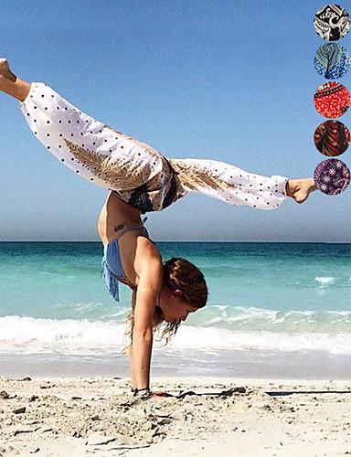 povoljno Odjeća za fitness, trčanje i jogu-Žene Visoki struk Harem hlače Nabori na struku Hlače za jogu Print Trbušni ples Fitness ženske sportske hlače Odjeća za rekreaciju Mala težina Prozračnost Ovlaživanje Puha Neelastično Širok kroj