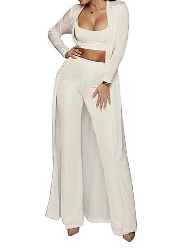 cheap Women's Tops-Women's Going out Basic Long Set - Solid Colored Pant Strapless