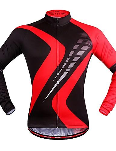 povoljno Odjeća za vožnju biciklom-WOSAWE Muškarci Žene Dugih rukava Biciklistička majica Crveno crno Karirano / kockasto Bicikl Biciklistička majica Majice Brdski biciklizam biciklom na cesti Quick dry Sportski Poliester Odjeća