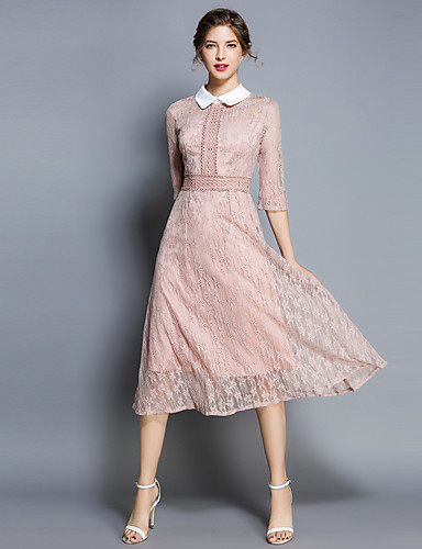 women s going out vintage sophisticated slim a line dress solid