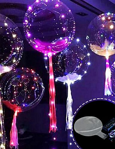 preiswerte Dekorationen-3m 30led Ballon mit LED-Streifen Leuchtballons für Hochzeitsdekorationen Geburtstagsparty Weihnachten Neujahr