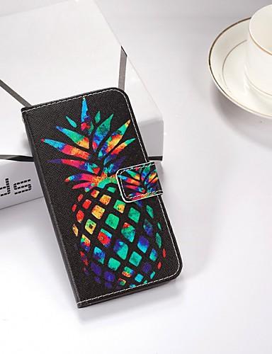 Case สำหรับ Samsung Galaxy Galaxy J4 Plus (2018) / Galaxy J6 Plus (2018) Wallet / Card Holder / with Stand ตัวกระเป๋าเต็ม อาหาร Hard หนัง PU