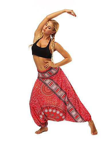 povoljno Vježbanje, fitness i joga-Žene Visoki struk Harem hlače Hlače za jogu Boemski stil Royal Blue Zumba Plesne Fitness ženske sportske hlače Odjeća za rekreaciju Mala težina Prozračnost Ovlaživanje Puha Neelastično Širok kroj
