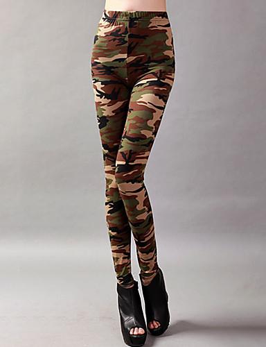 levne Shall We®-Sportovní oděvy Legíny a elasťáky Dámské Trénink / Výkon Elastický / Charmeuse Vzor / Tisk Vysoký Kalhoty
