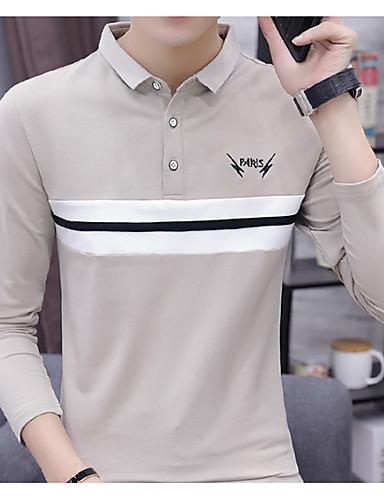 Algodón A Tallas Cuello Camiseta Grandes Hombre Rayas Camisero EvqBE