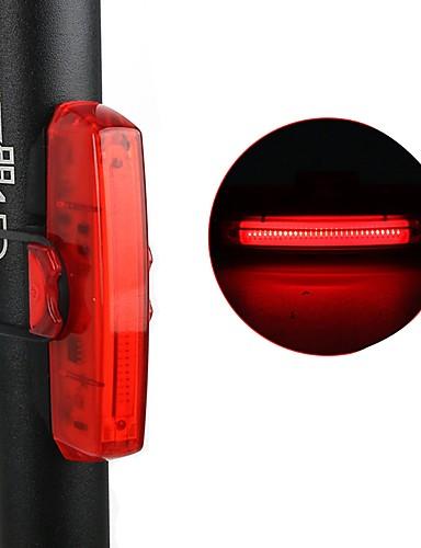 billige Sykling-LED Sykkellykter Baklys til sykkel sikkerhet lys Baklys Fjellsykling Sykkel Sykling Vanntett Justerbar Anti-Sjokk Nattsyn Lithium-batteri 10 lm Rød mi.xim