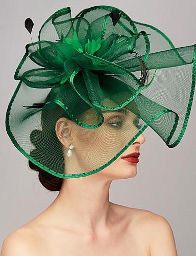 povoljno Pozivnice za vjenčanje-Perje / Net Kentucky Derby Hat / Fascinators / Headpiece s Perje / Cvjetni print / Cvijet 1pc Vjenčanje / Special Occasion Glava