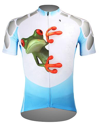 povoljno Odjeća za vožnju biciklom-ILPALADINO Muškarci Kratkih rukava Biciklistička majica purpurna boja žuta Zelen Žaba Bicikl Biciklistička majica Majice Brdski biciklizam biciklom na cesti Prozračnost Quick dry Ultraviolet Resistant