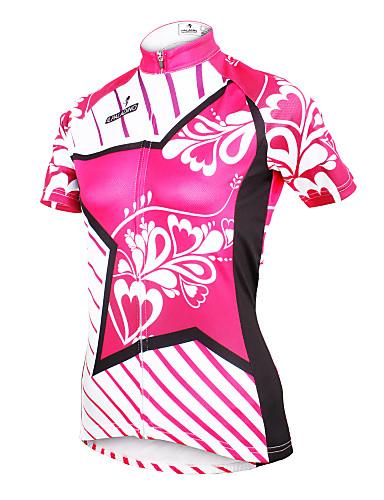 povoljno Odjeća za vožnju biciklom-ILPALADINO Žene Kratkih rukava Biciklistička majica Yan pink Cvjetni / Botanički Veći konfekcijski brojevi Bicikl Biciklistička majica Majice Brdski biciklizam biciklom na cesti Prozračnost Quick dry