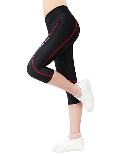 povoljno Odjeća za vožnju biciklom-WOSAWE Žene Uniseks Biciklističke kratke hlače s jastučićima Bicikl Kratke hlače 3/4 Hulahopke Hlače Prozračnost Pad 3D Quick dry Sportski Poliester Spandex Crveno crno Brdski biciklizam biciklom na