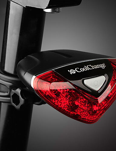 billige Sykling-LED Sykkellykter Baklys til sykkel sikkerhet lys Fjellsykling Sykkel Sykling Vanntett Justerbar Holdbar AAA 100 lm Rød Sykling - CoolChange / ABS