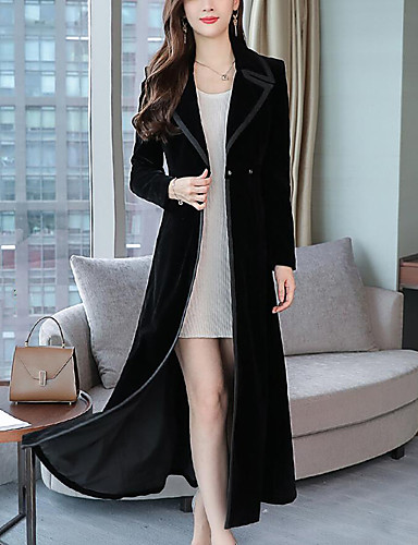 1f227090af65e Women s Work   Party   Cocktail Street chic   Sophisticated Fall   Winter  Plus Size Maxi Pea Coat