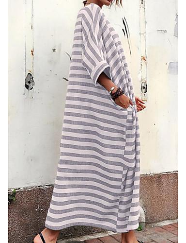 levne Maxi šaty-Dámské Plážové Velkoformátové Shift Tričko Šaty Maxi