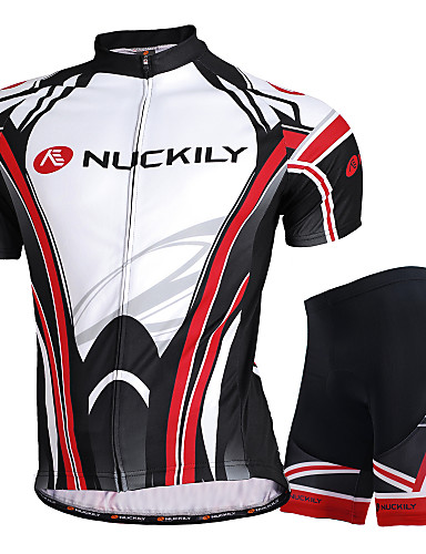 cheap Cycling Jersey & Shorts / Pants Sets-Nuckily Men's Women's Short Sleeve Cycling Jersey with Shorts Black Bike Shorts Jersey Clothing Suit Waterproof Breathable Ultraviolet Resistant Waterproof Zipper Reflective Strips Sports Polyester